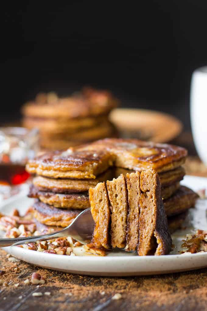 Paleo Pumpkin Pancakes | The Paleo Running Momma