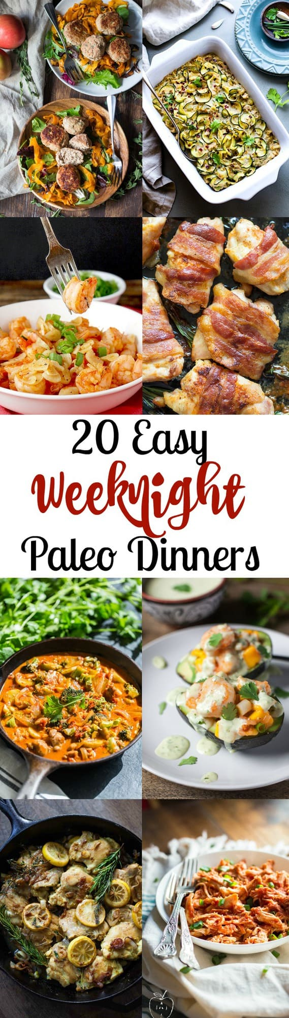 20 Easy Paleo Dinners for Weeknights