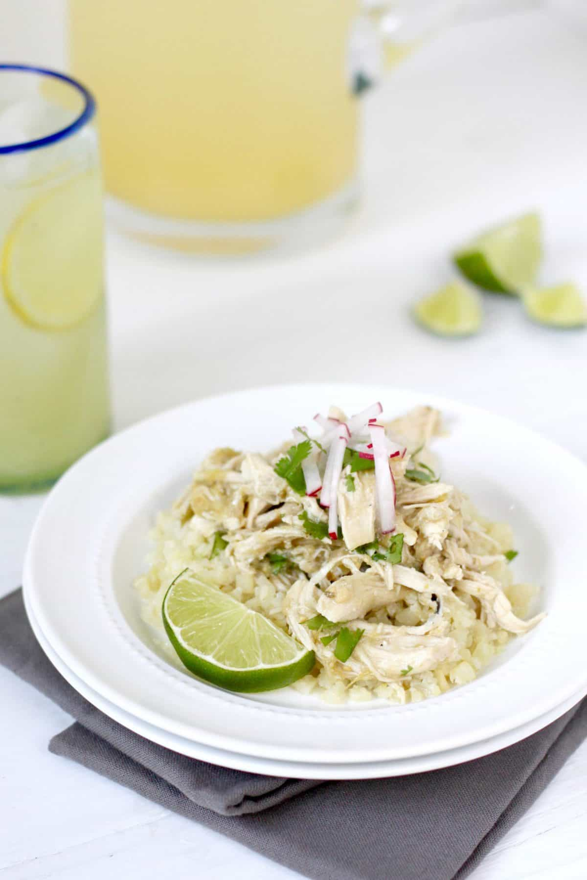 Slow Cooker Chicken Chile Verde {Whole30} via The Real Food Dieticians