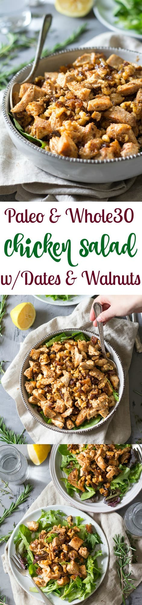 Paleo Chicken Salad with Dates and Walnuts {Whole30)