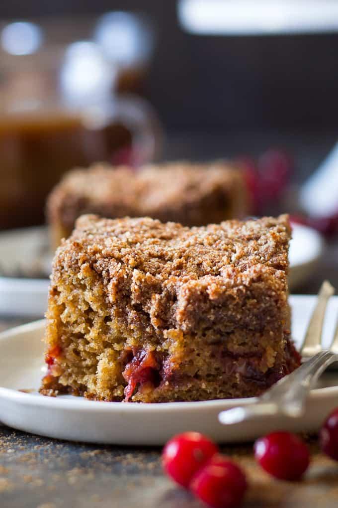 Paleo Cranberry Orange Coffee Cake