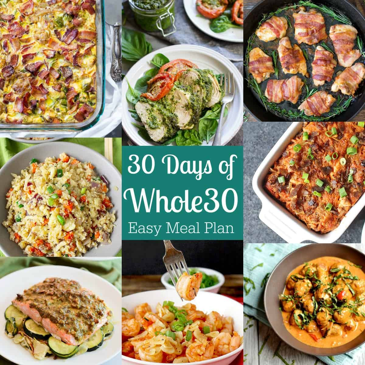 30 Days of Whole30 {Easy Meal Plan w/Recipes!}