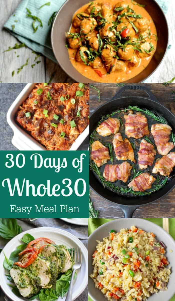 30 Days Of Whole30 Easy Meal Plan Recipes Paleo Running Momma