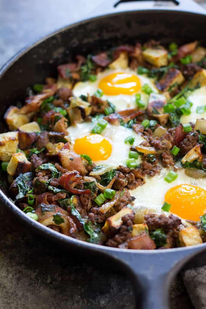 """Bacon Burger & Fries"" Paleo Breakfast Bake {Whole30}"