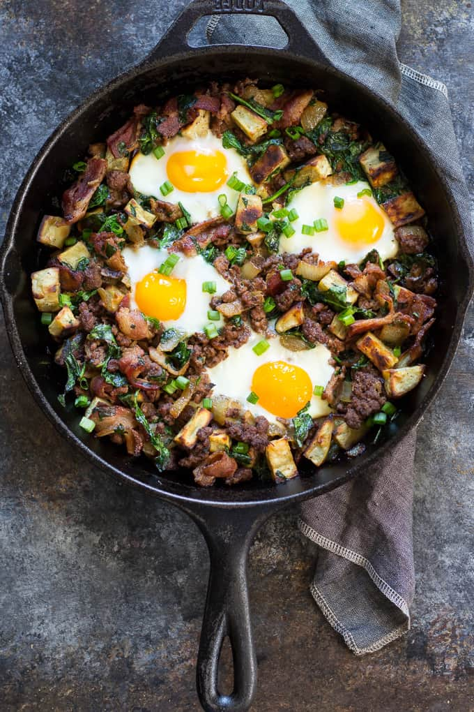 Bacon burger paleo breakfast bake whole30 paleo for Good dinner recipes with ground beef