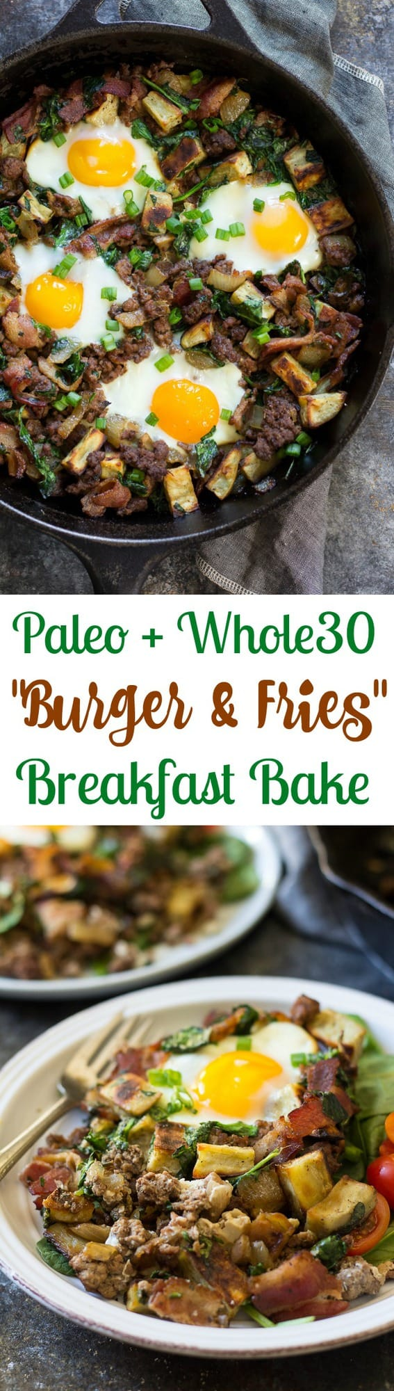 Eat your burger with fries for breakfast with this #paleo and #whole30 ...