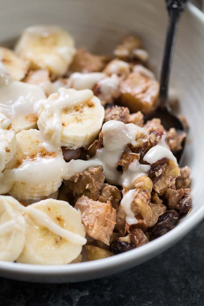 Easy Apple Cinnamon Paleo Hot Cereal {Whole30, Vegan}