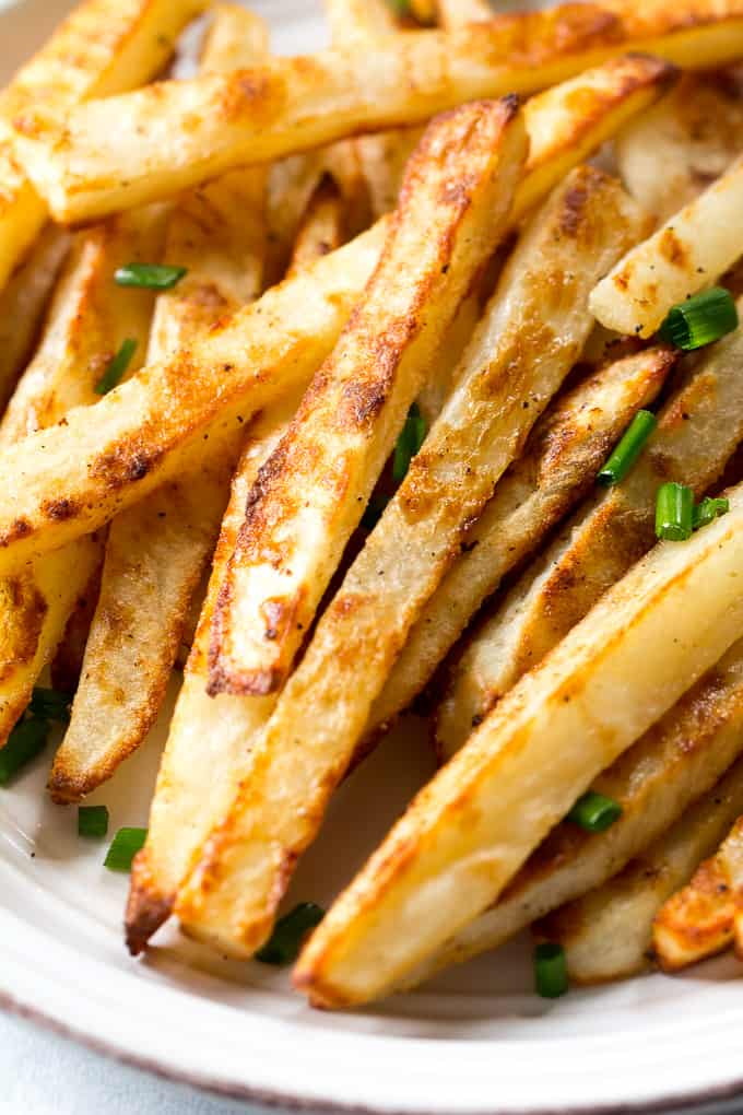 french fries and how they are Now even my husband can't get enough of these french fries they even stay crispy when you reheat in the microwave new this month follow us on: get the allrecipes.