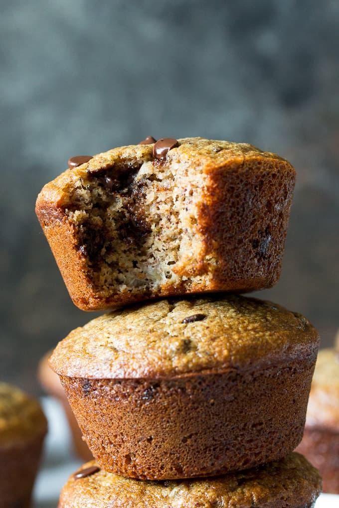 Banana Chocolate Muffins Paleo