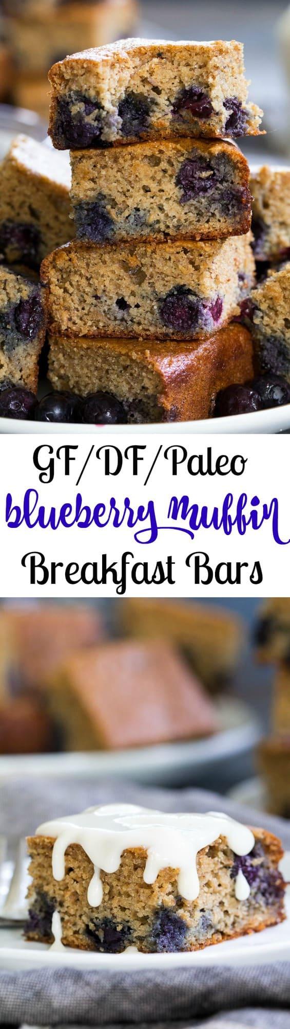 Paleo Blueberry Muffin Breakfast Bars   The Paleo Running ...