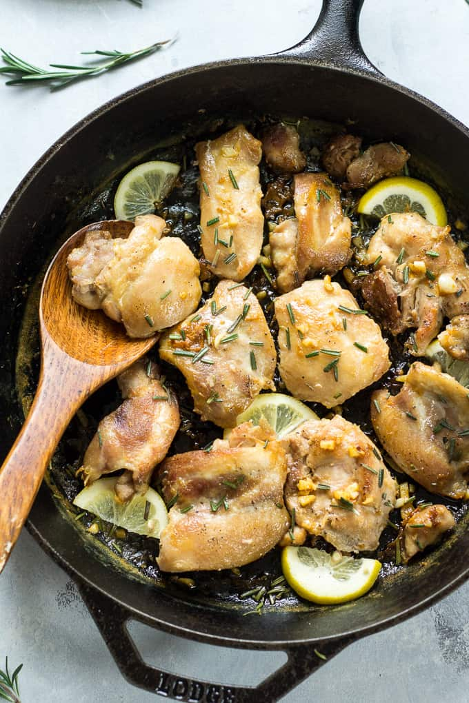 Recipe for lemon garlic chicken thighs