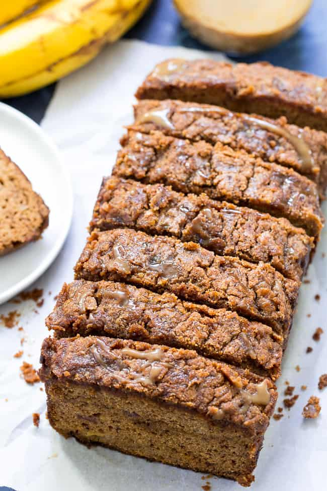 Caramel coffee cake paleo banana bread nut free the paleo this coffee cake paleo banana bread is swirled and drizzled with easy dairy free caramel and topped with a thick cinnamon crumb layer forumfinder Gallery