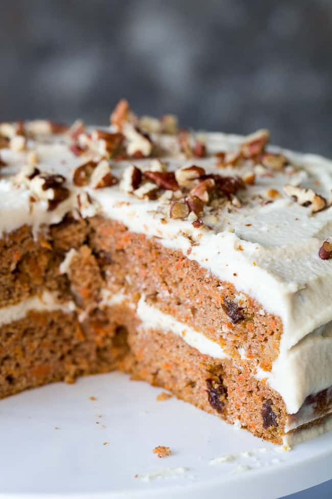 Phenomenal Paleo Carrot Cake With Coconut Cream Cheese Frosting The Paleo Birthday Cards Printable Inklcafe Filternl
