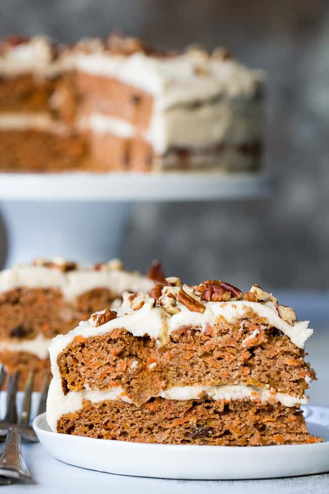 """Paleo Carrot Cake with Coconut """"Cream Cheese"""" Frosting"""