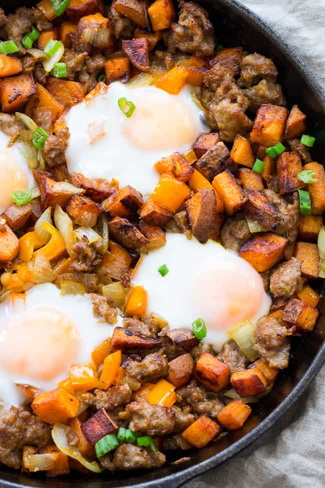 Sweet Potato Hash with Sausage and Eggs {Paleo & Whole30 ...