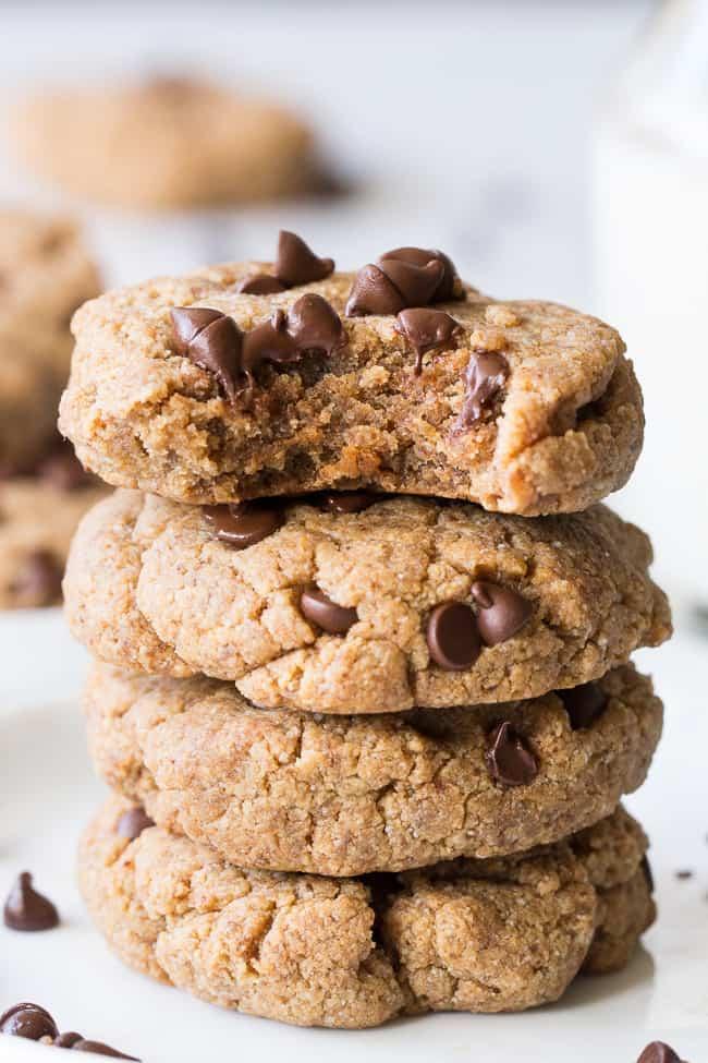 Soft Paleo & Vegan Chocolate Chip Cookies