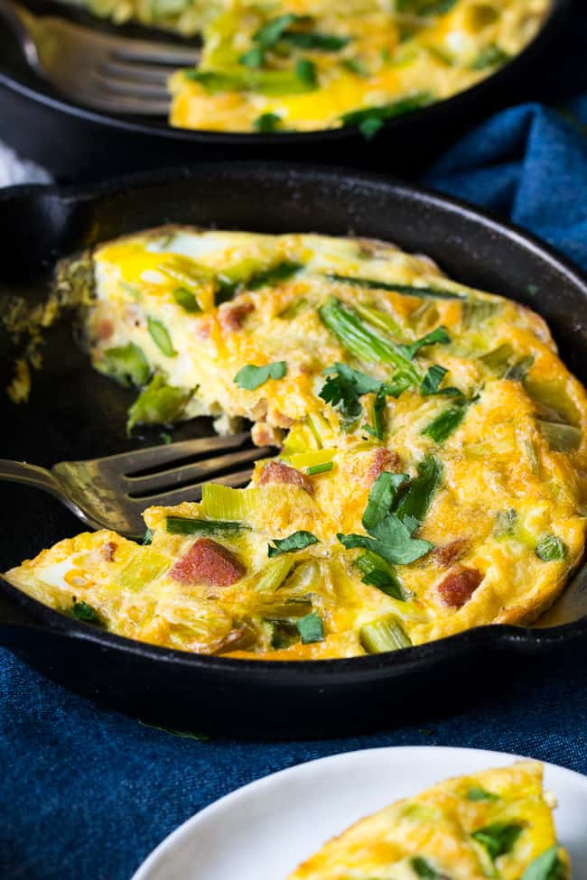 Asparagus Frittata with Spicy Sausage and Leeks {Paleo ...
