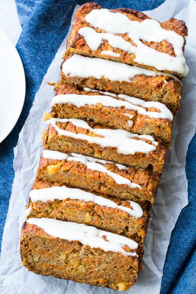 Pineapple Carrot Cake Bread {Paleo & Nut Free}