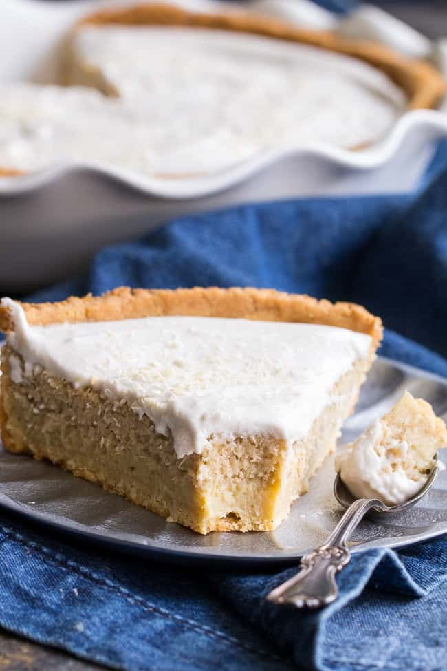 Coconut Custard Pie {Paleo, Dairy Free}