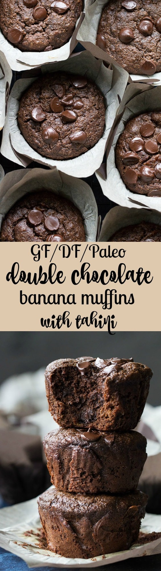 Double Chocolate Banana Muffins with Tahini | The ...