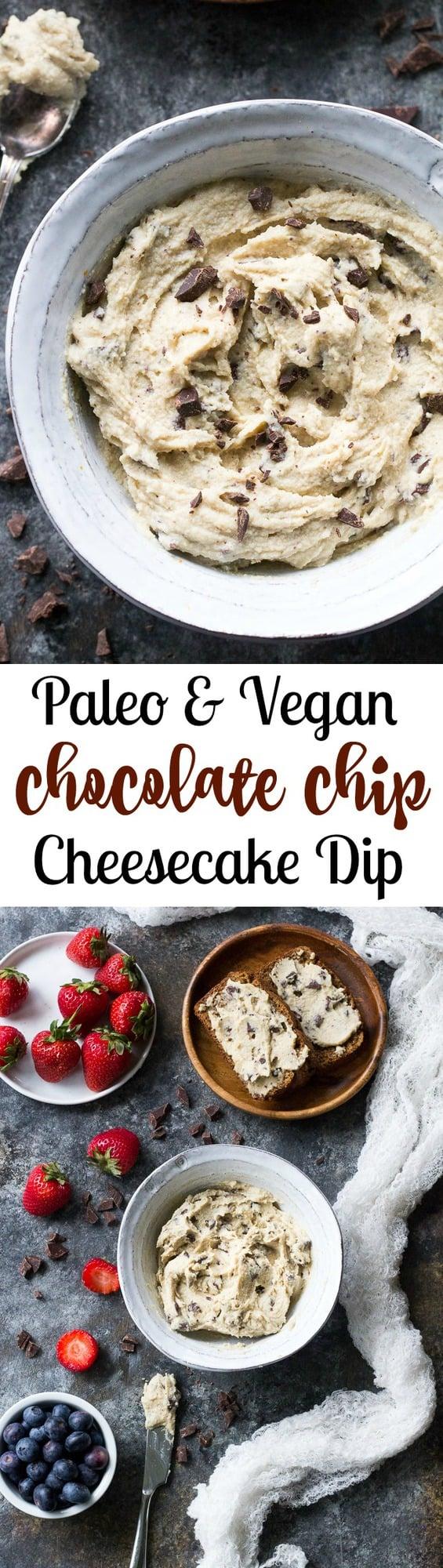 Chocolate Chip Cheesecake Dip | Paleo Running Momma