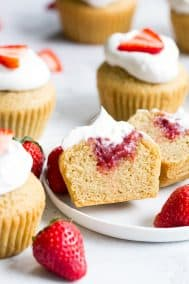 Strawberry Shortcake Cupcakes {GF, DF, Paleo}
