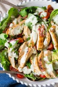 Grilled Chicken BLT Salad with Peppercorn Ranch {Paleo & Whole30}