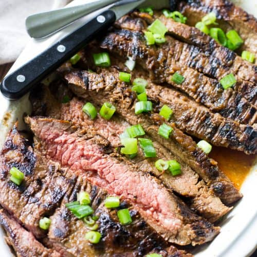 Paleo Marinated Flank Steak {Whole30} | The Paleo Running Momma