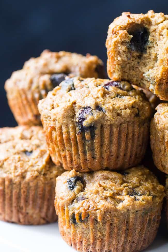Blueberry Zucchini Muffins {Paleo, GF, DF}