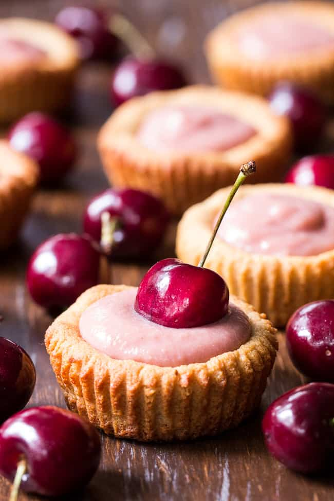 Cherry Curd Cookie Tarts {GF, DF, Paleo}