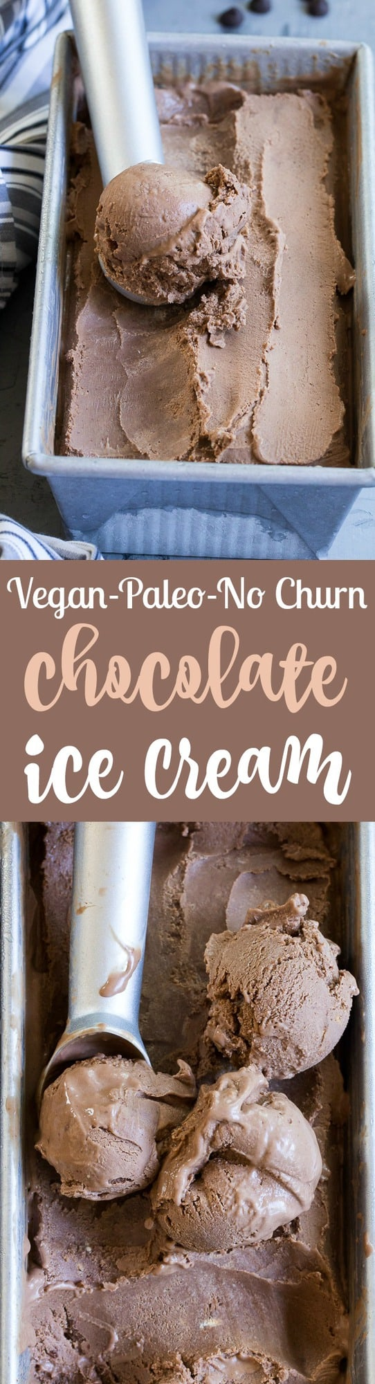 This no-churn chocolate coconut milk ice cream is so rich and creamy that you'd never guess it's vegan and paleo! Almond butter adds creaminess to the texture and raw cacao plus pure maple syrup give this coconut milk ice cream a rich dark chocolate flavor. Dairy-free, soy free, refined-sugar-free, easy to make!