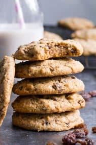 "Paleo ""Oatmeal"" Raisin Cookies {Vegan, GF, DF}"