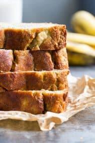 Hearty Paleo Banana Bread {Sweetened with Bananas Only!}