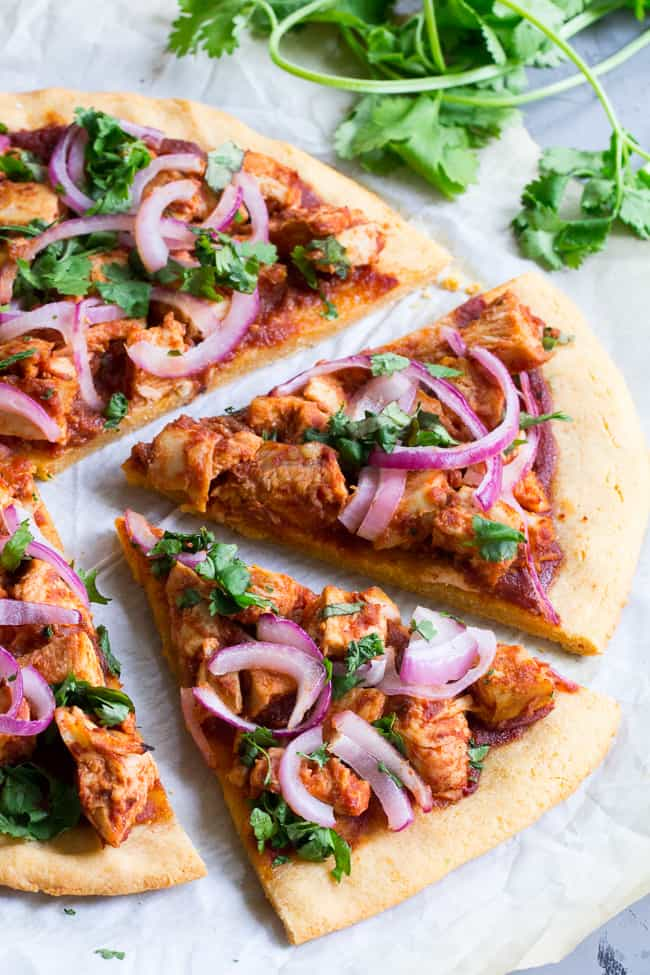 BBQ Chicken Pizza {Grain Free & Paleo}