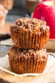 Paleo Apple Muffins with Crumb Top