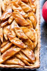 Salted Caramel Apple Tart {Grain Free, Paleo}
