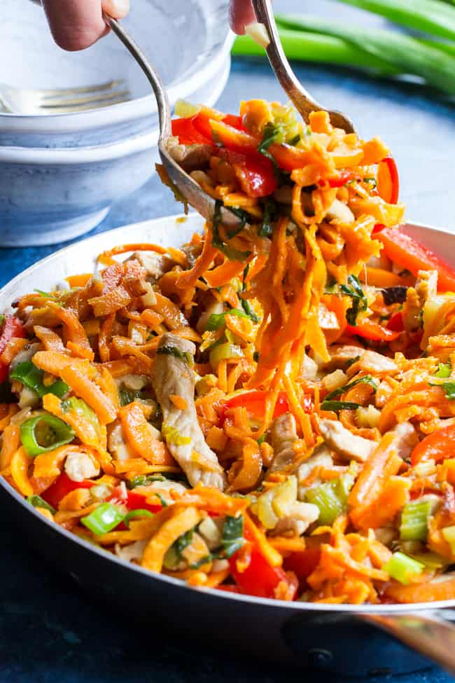 Paleo Pork Lo Mein {Whole30}