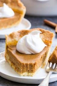 Classic Paleo Pumpkin Pie {with Crust Recipe!}