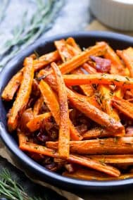 Carrot Fries with Bacon and Rosemary {Paleo, Whole30}