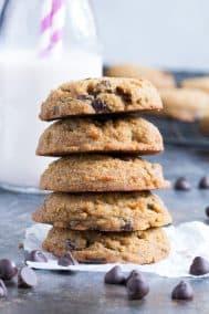 Coconut Flour Chocolate Chip Cookies {Paleo, Nut Free}