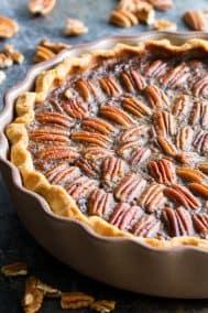 Salted Caramel Pecan Pie {Paleo, Gluten-Free}