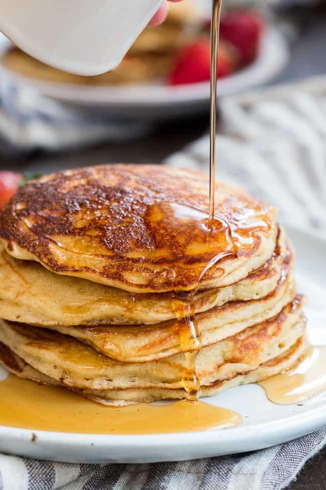 Paleo Buttermilk Pancakes {Nut Free, Grain Free, Dairy Free}