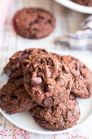 Paleo & Vegan Double Chocolate Chip Cookies