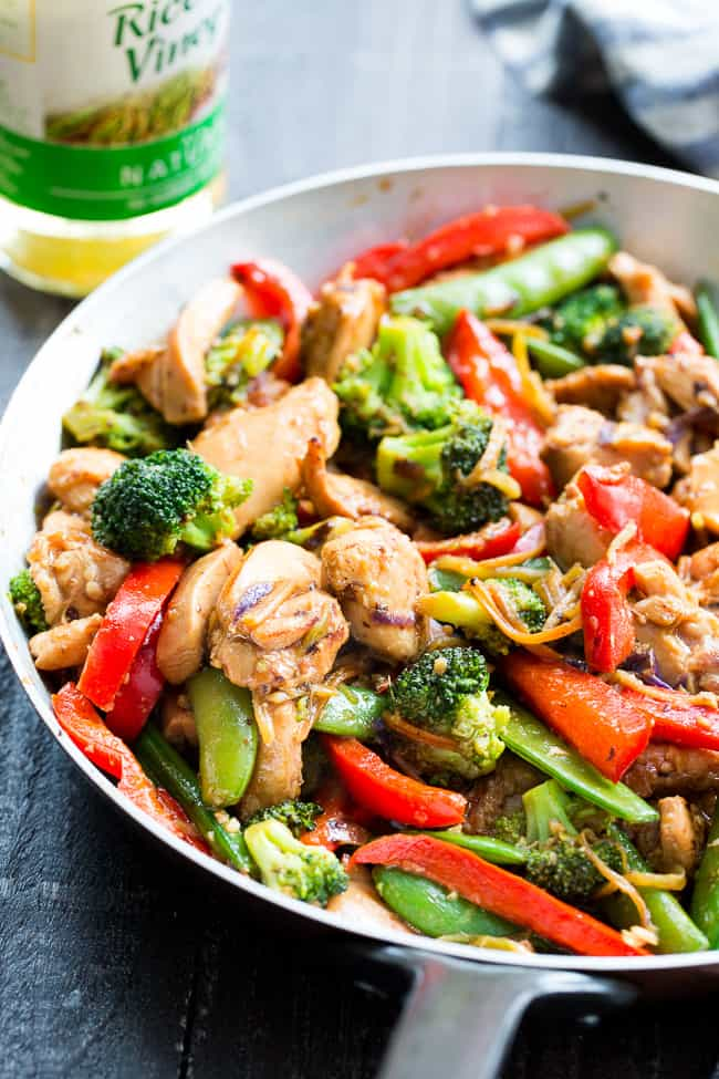 Chicken Stir Fry With Veggies And Garlic Sauce Paleo Whole30 The Paleo Running Momma