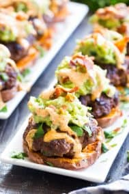 Loaded Taco Sweet Potato Sliders {Paleo, Whole30}