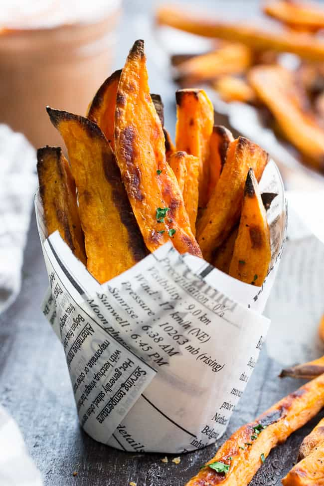 Baked Sweet Potato Fries With Bbq Ranch Dip Paleo Whole30 The Paleo Running Momma