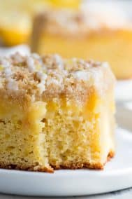 Lemon Crumb Cake with Creamy Lemon Curd {Paleo}