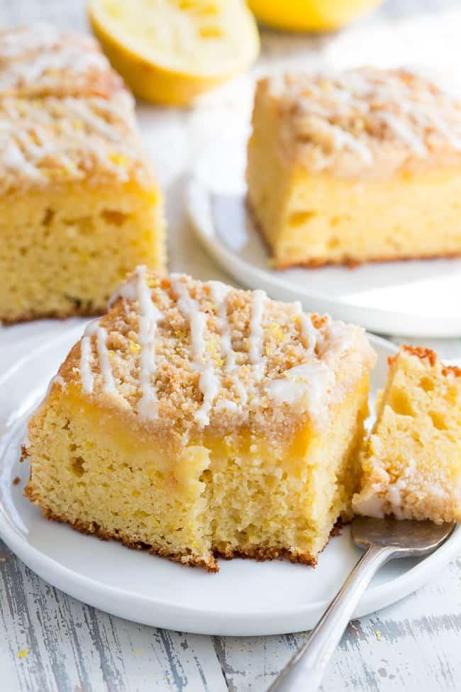 Lemon Curd Crumble Cake