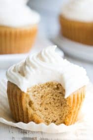"Vanilla Cupcakes with ""Buttercream"" Frosting {Paleo}"
