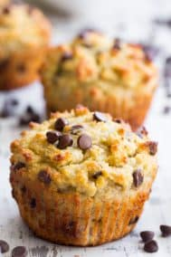 Chocolate Chip Banana Muffins with Coconut Butter {Paleo, Nut-Free}